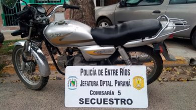 Photo of La Policía recuperó varias motos robadas en Paraná: las fotos