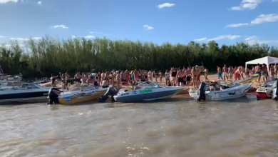 Photo of Video: masiva concurrencia de gente a las islas, frente a Paraná