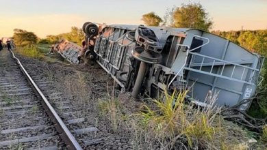 Photo of Descarriló un tren con 15 vagones que transportaba cosecha de trigo